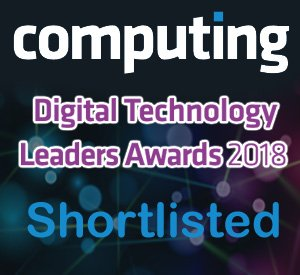 Computing Magazine - Digital Technology Leaders - Shortlisted 2018